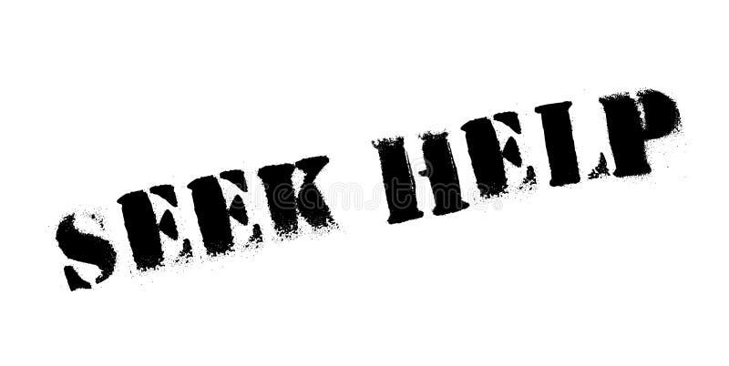 Zoek Hulp rubberzegel royalty-vrije illustratie