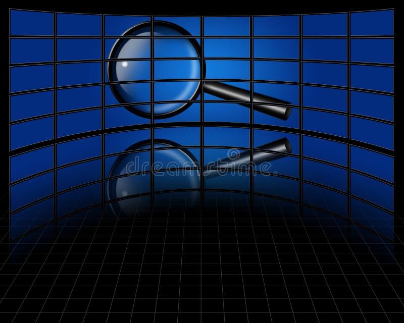 Zoek multiscreen  vector illustratie