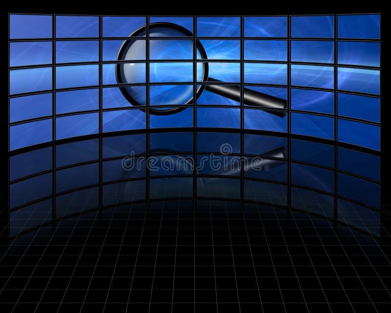 Zoek multiscreen  stock illustratie