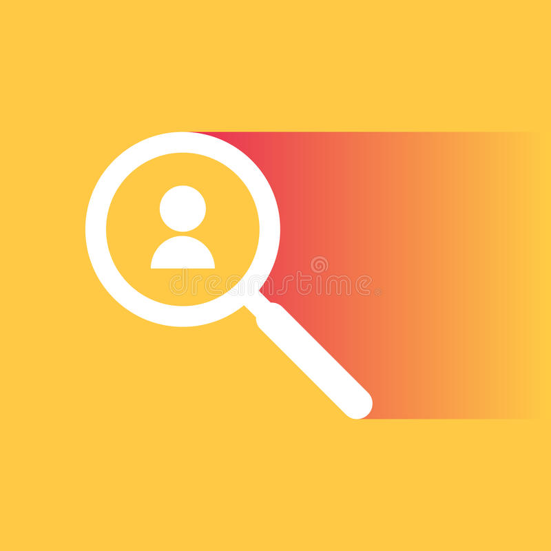 Zoek naar begaafde werknemers vector illustratie
