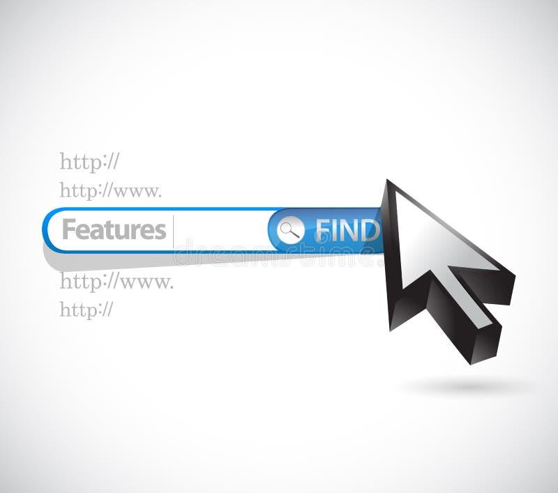zoek naar de illustratieontwerp van het eigenschappenconcept stock illustratie