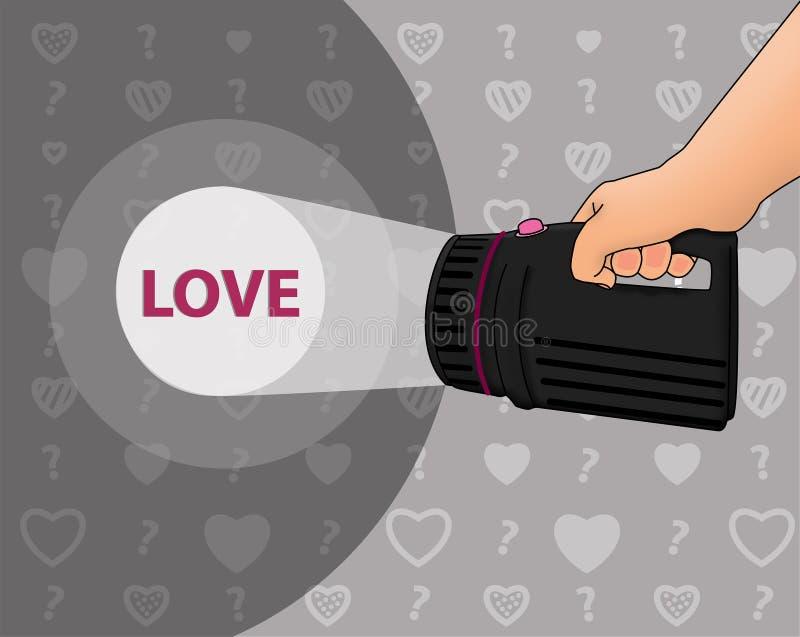 Zoek naar de liefde vector illustratie