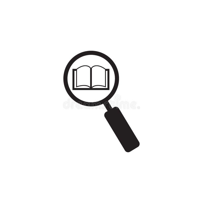 zoek naar een boekillustratie Element van bibliotheekpictogram voor mobiel concept en Web apps Het gedetailleerde onderzoek naar  vector illustratie