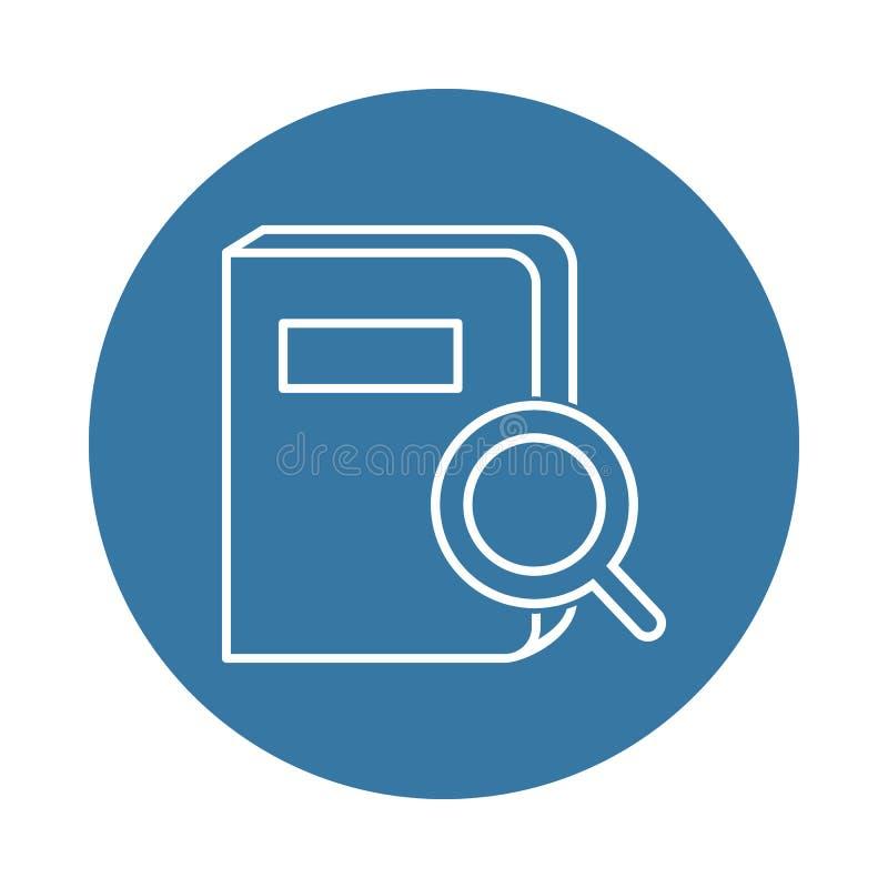 zoek naar een boekpictogram Element van boeken en tijdschriftenpictogrammen voor mobiel concept en Web apps Het onderzoek van de  vector illustratie