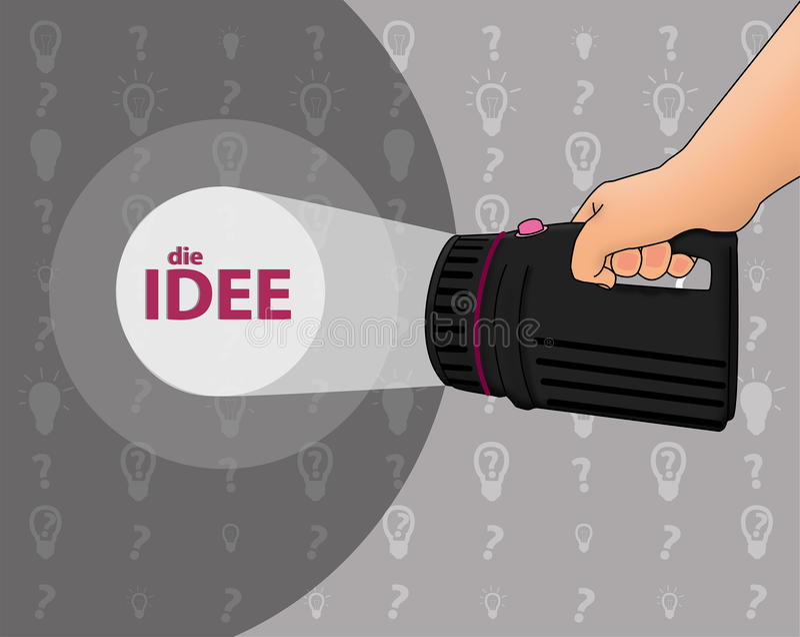 Zoek naar een idee stock illustratie
