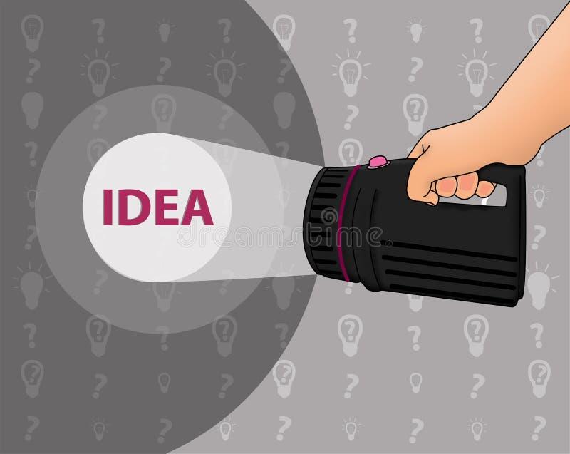 Zoek naar een idee royalty-vrije illustratie