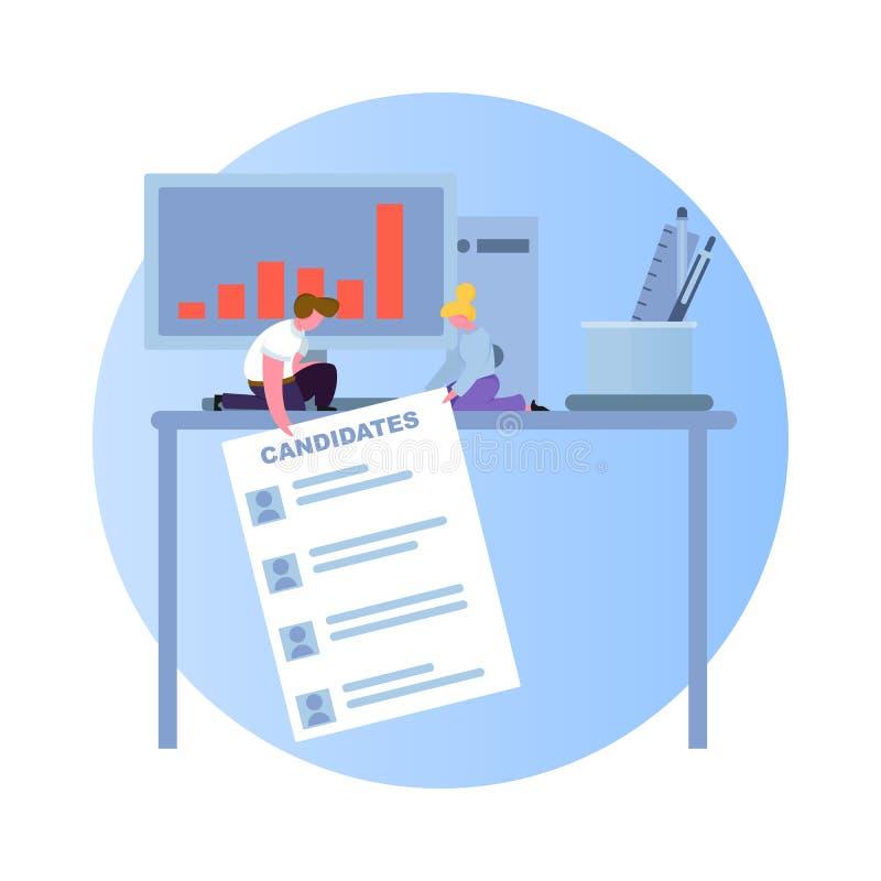 Zoek naar een nieuwe werknemer vector illustratie