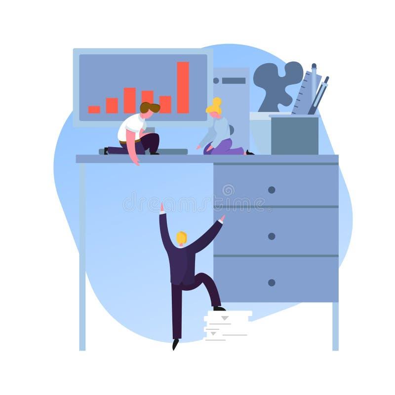 Zoek naar een nieuwe werknemer stock illustratie