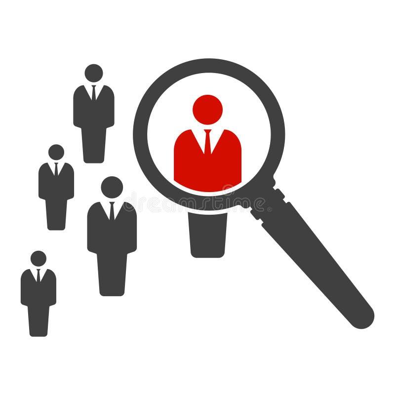 Zoek naar een nieuwe werknemer Vector illustratie op witte achtergrond stock illustratie
