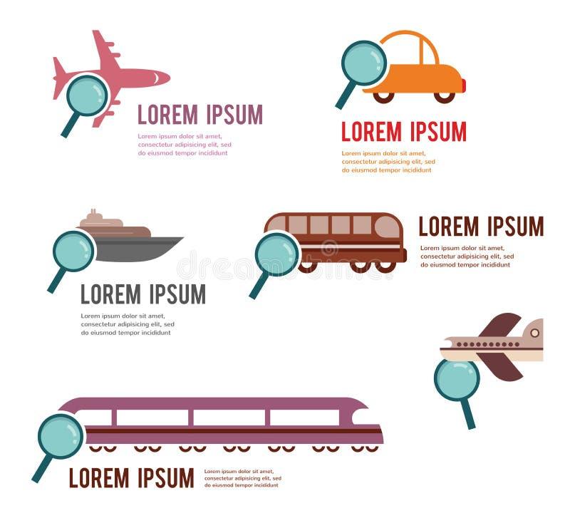 Zoek naar een perfect vervoer royalty-vrije illustratie