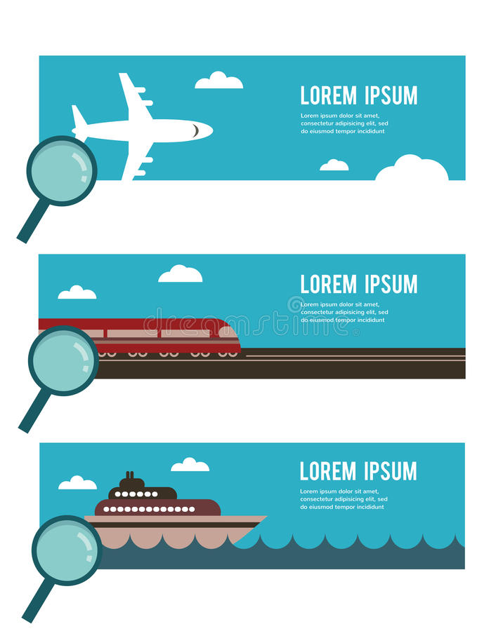 Zoek naar het juiste vervoer voor u stock illustratie