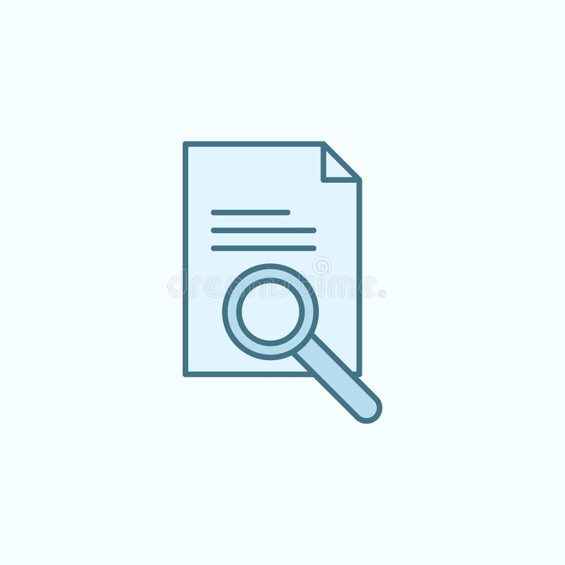 zoek naar het overzichtspictogram van het documentengebied Element van misdaadpictogram stock illustratie