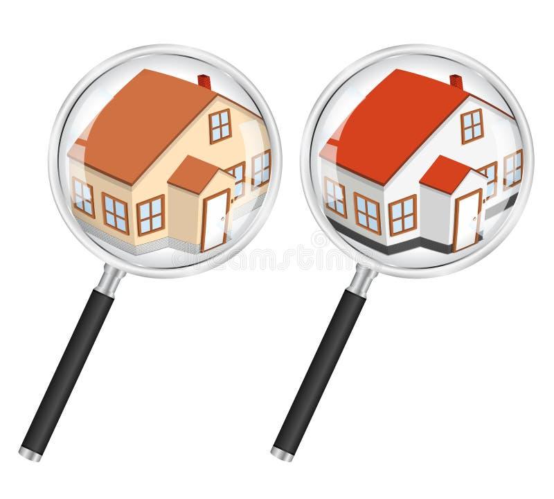 Zoek naar huisconcept vector illustratie