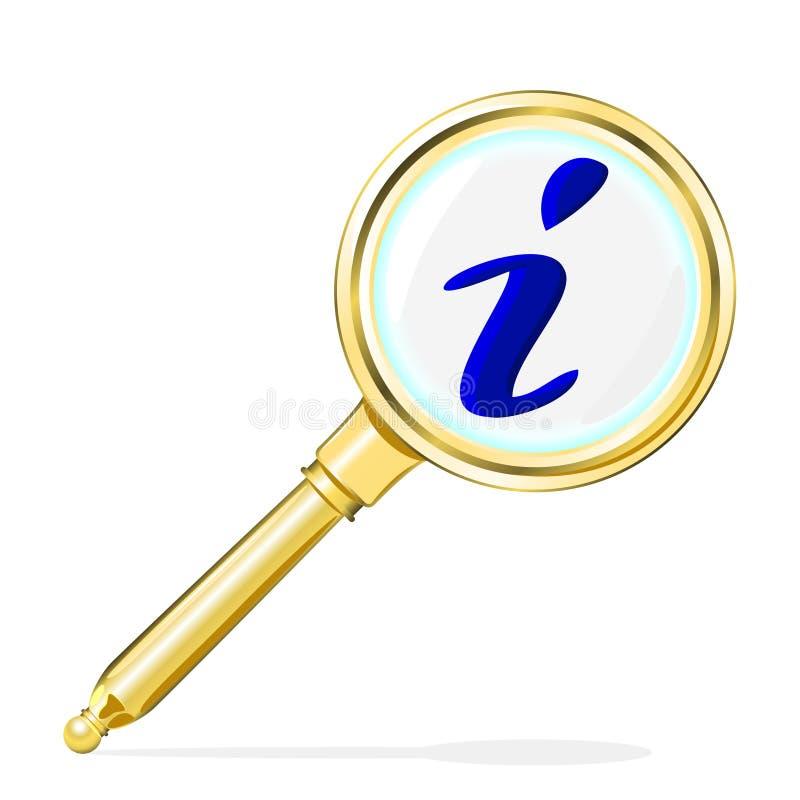 Zoek naar informatie vector illustratie