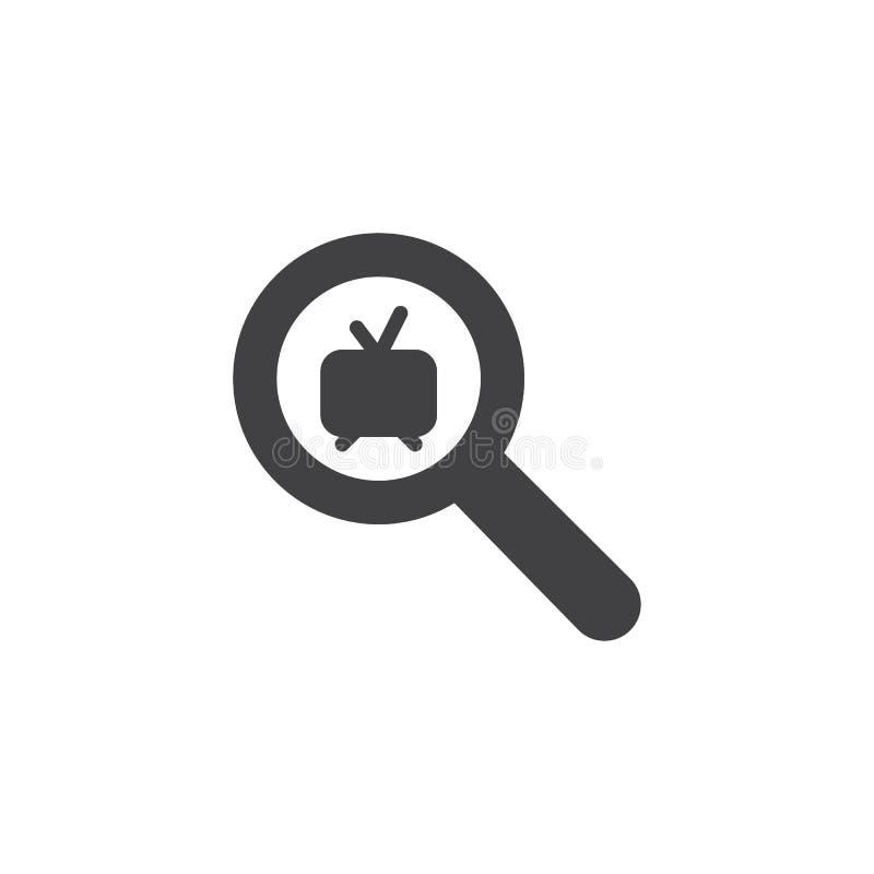 Zoek naar TV-kanaal vectorpictogram vector illustratie