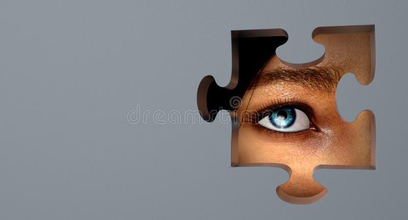 Zoek naar waarheid vector illustratie
