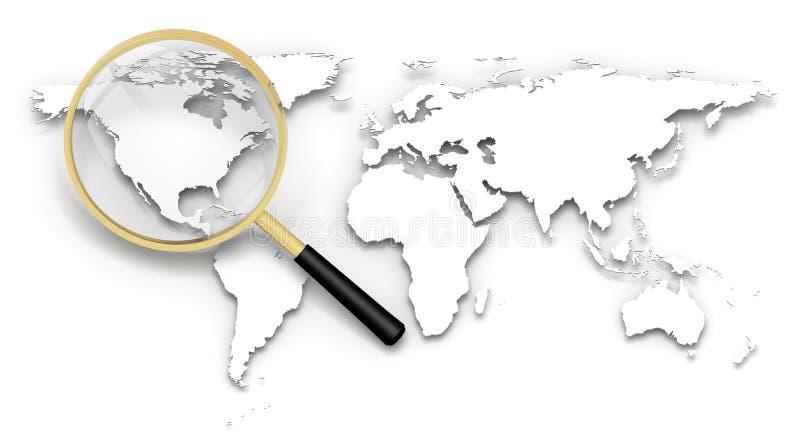 Zoek op Atlas stock illustratie