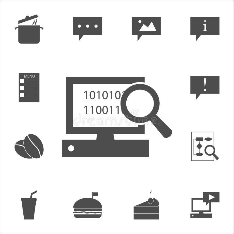 zoek op computerpictogram voor Web wordt geplaatst dat en het mobiele algemene begrip van Webpictogrammen royalty-vrije illustratie