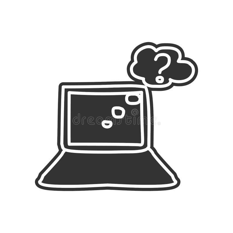 zoek op het Internet-schetspictogram Element van onderwijs voor mobiel concept en Web apps pictogram Glyph, vlak pictogram voor w royalty-vrije illustratie