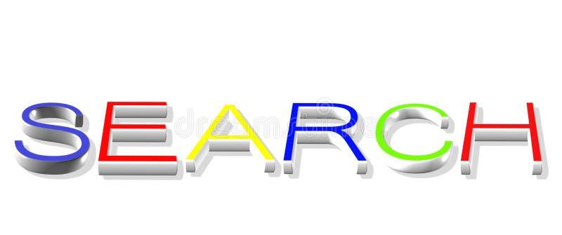 Zoek op Internet vector illustratie