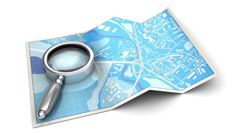 Zoek op kaart vector illustratie