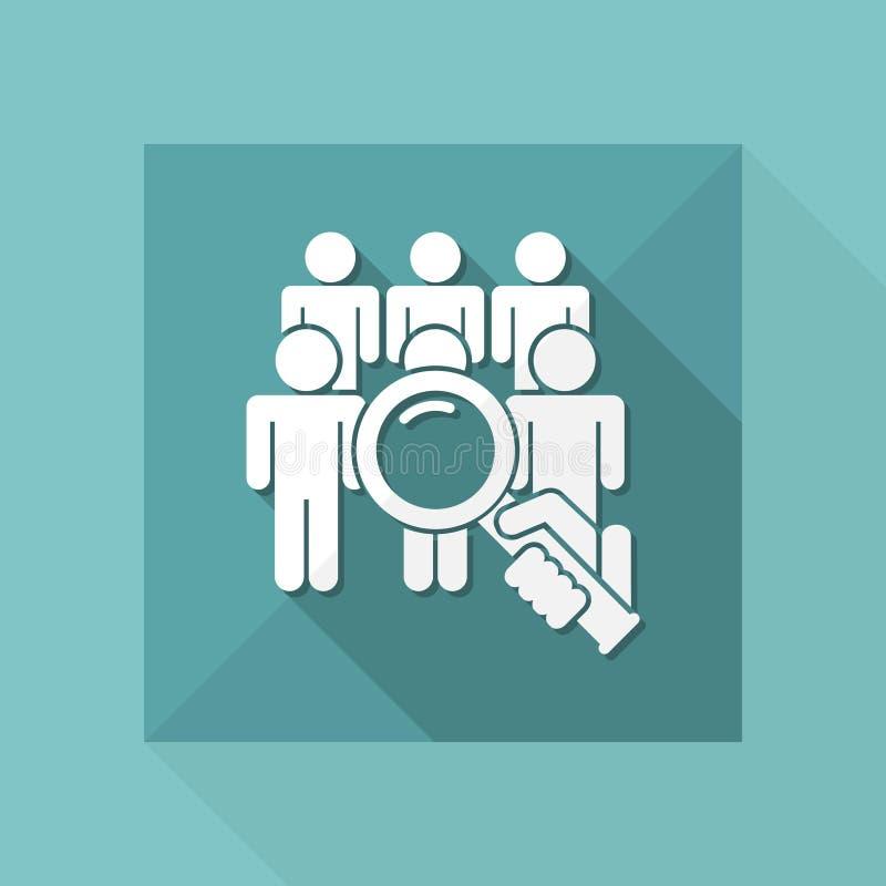 Zoek persoon vector illustratie
