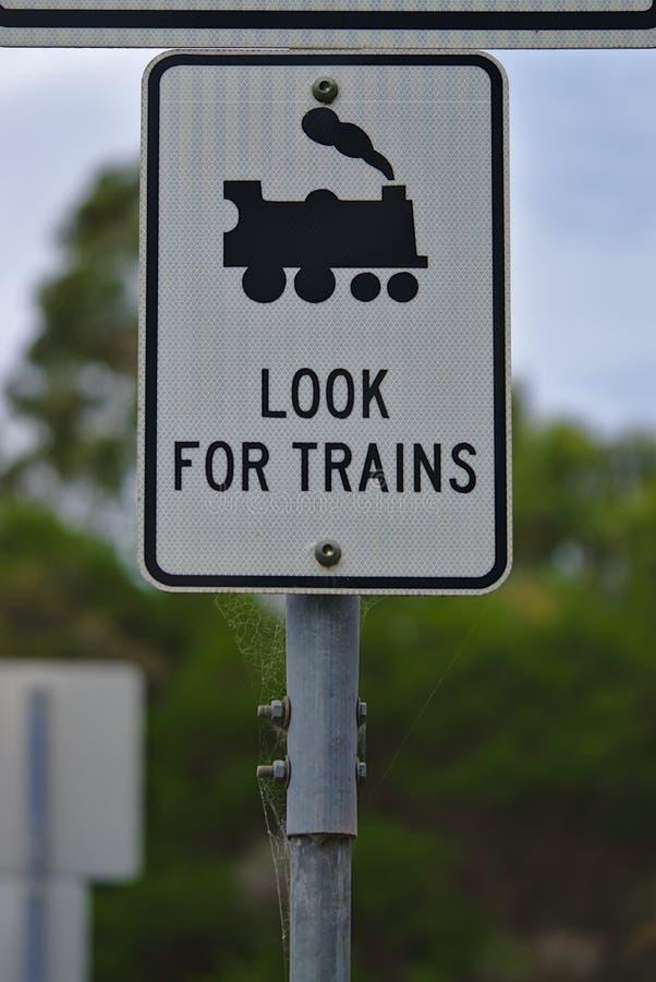 Zoek treinenteken in vierkante vorm stock afbeelding