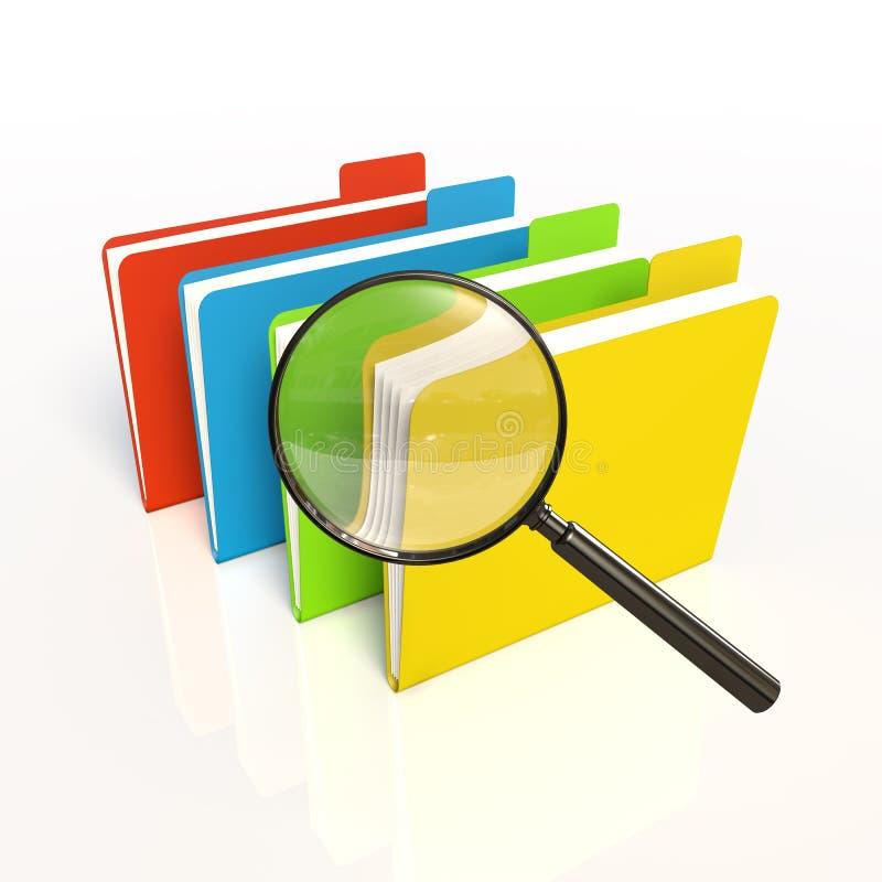 Zoek van gegevens. Geïsoleerdes 3D stock illustratie