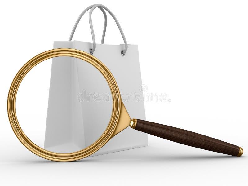 Zoek van goederen stock illustratie