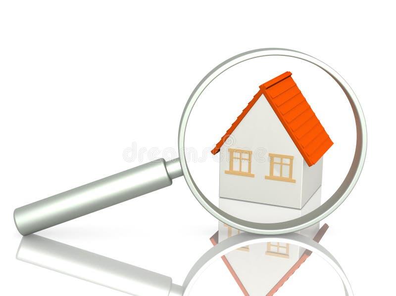 Zoek van huis vector illustratie