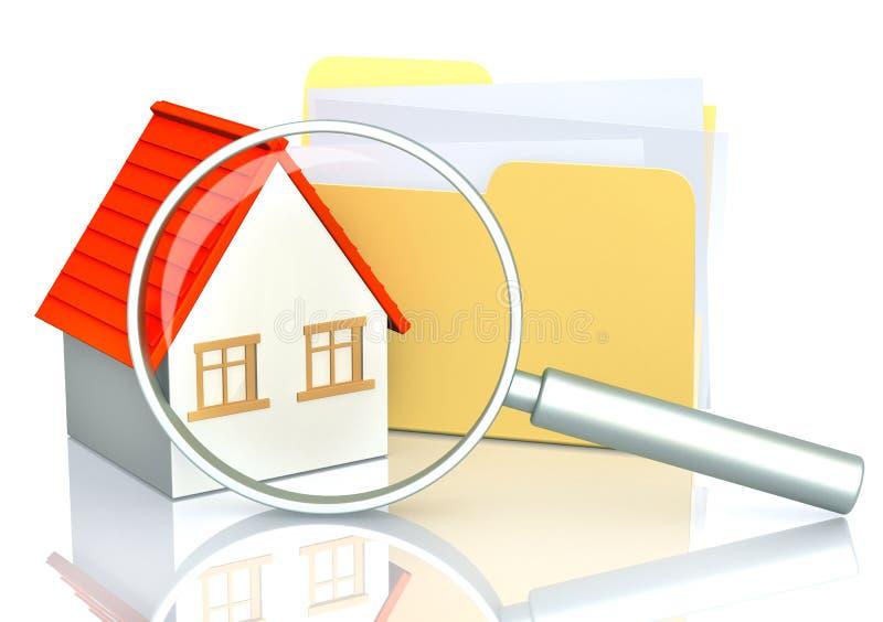 Zoek van huis stock illustratie