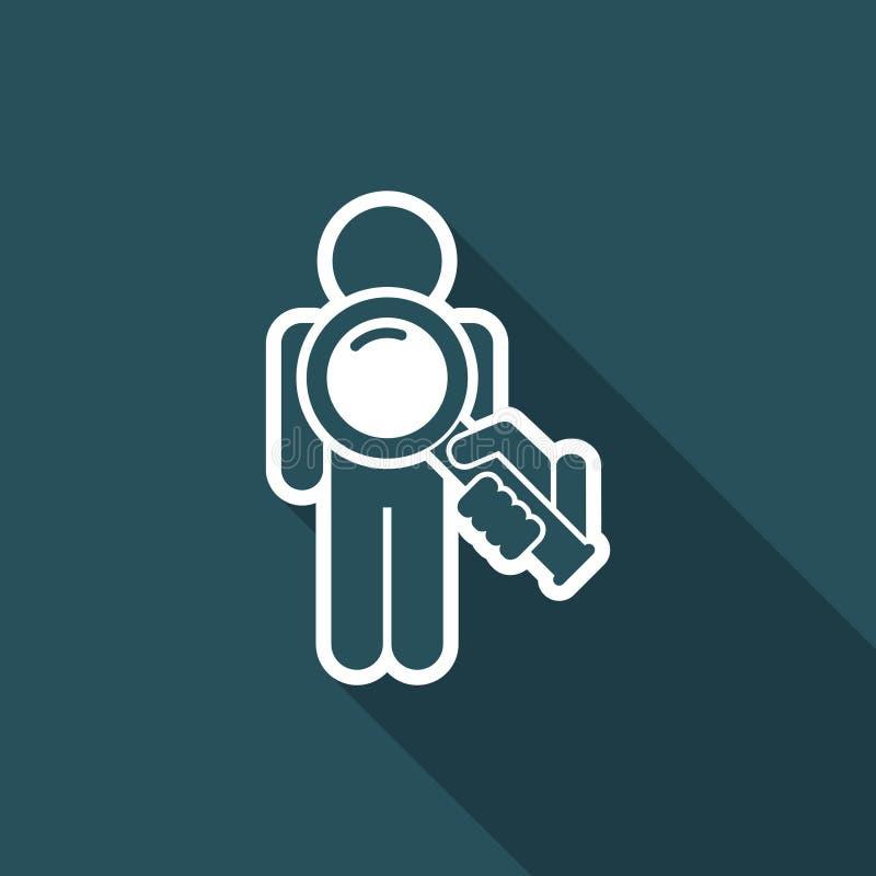 Zoek van mensen vector illustratie