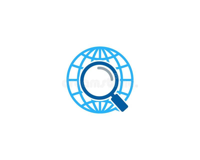 Zoek vindt Bolpictogram Logo Design Element vector illustratie