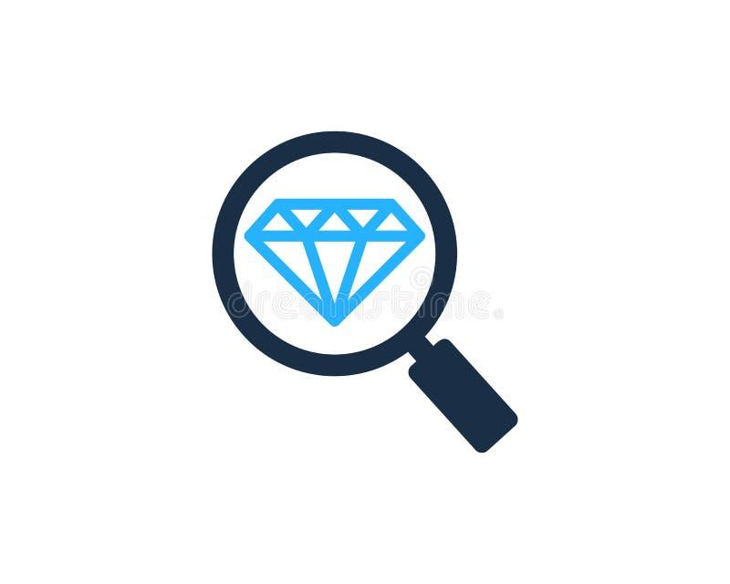 Zoek vindt Diamond Icon Logo Design Element stock illustratie