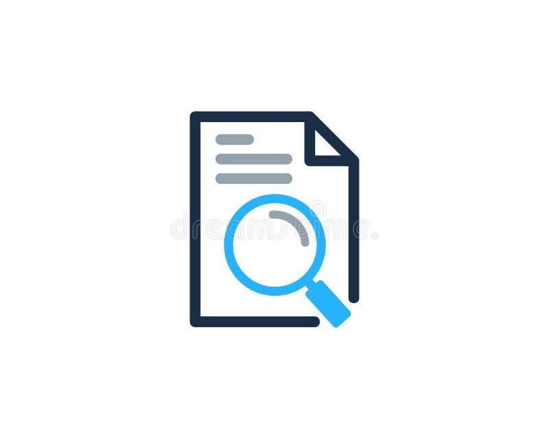 Zoek vindt Documentpictogram Logo Design Element vector illustratie