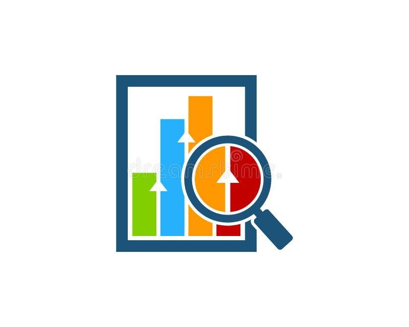 Zoek vindt Effectenbeurs Bedrijfspictogramembleem vector illustratie
