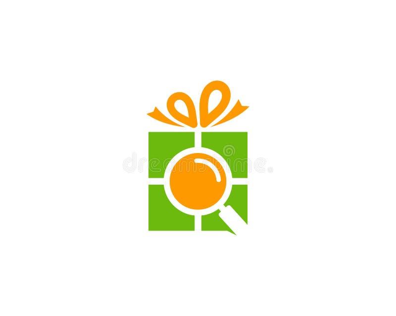 Zoek vindt Giftpictogram Logo Design Element royalty-vrije illustratie