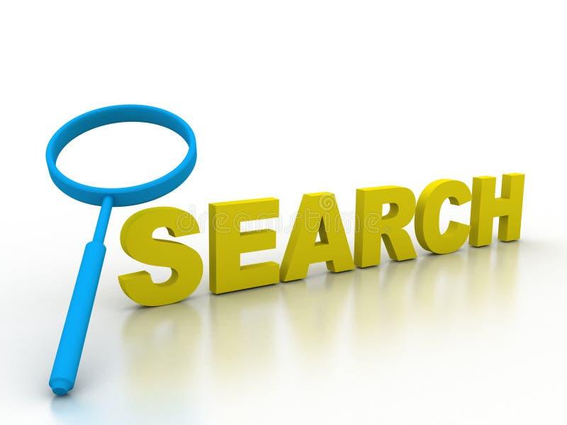 Zoek vindt het onderzoek van de informatiedetective stock illustratie