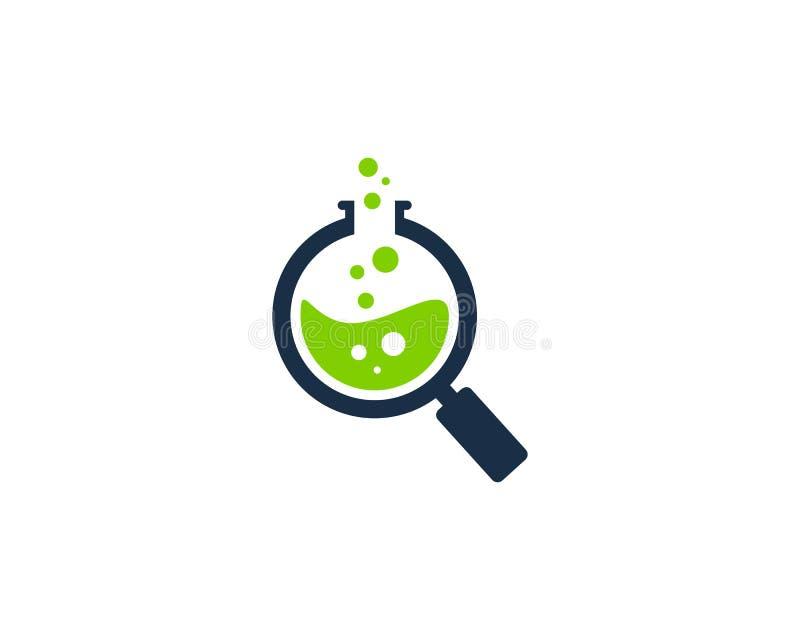 Zoek vindt het Pictogram Logo Design Element van het Wetenschapslaboratorium vector illustratie
