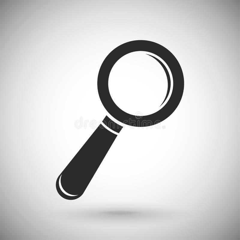 Zoek of vindt pictogram Zwart silhouetsymbool op grijze achtergrond vector illustratie