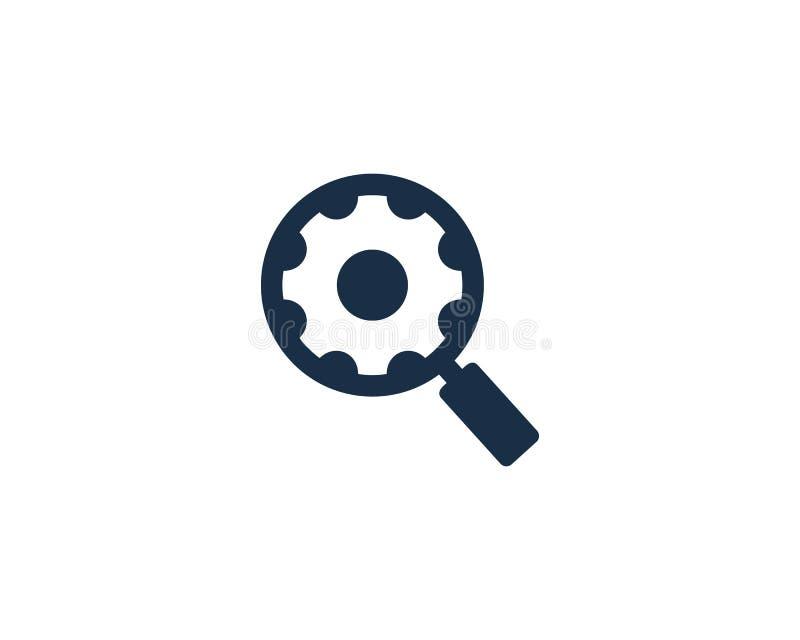 Zoek vindt Toestelpictogram Logo Design Element stock illustratie