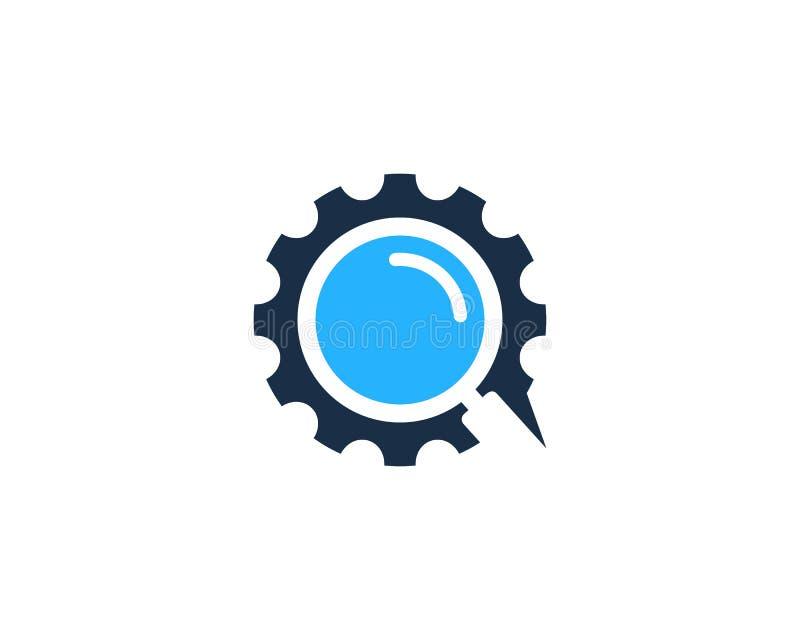Zoek vindt Toestelpictogram Logo Design Element royalty-vrije illustratie