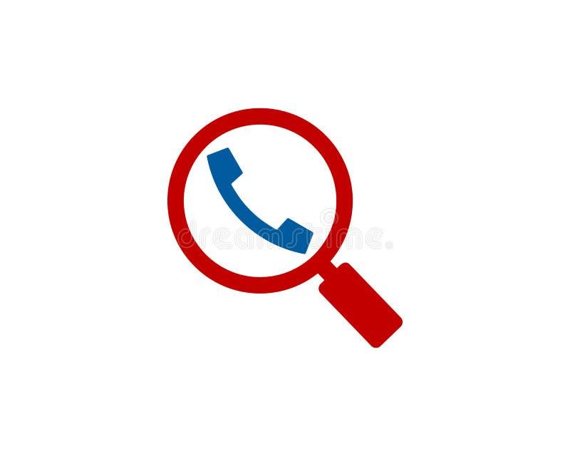 Zoek vindt Vraagpictogram Logo Design Element vector illustratie