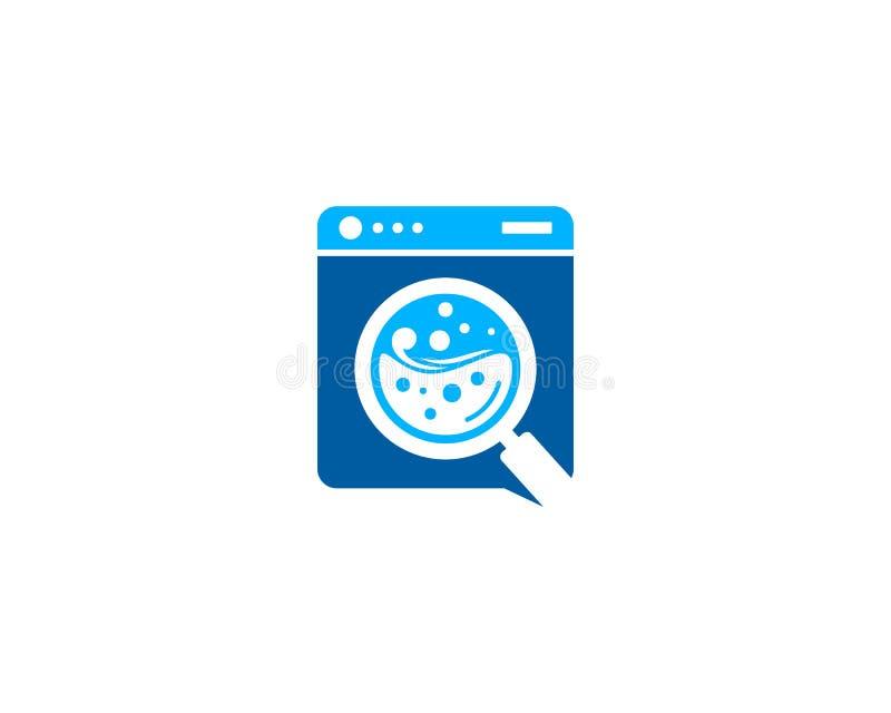 Zoek vindt Wasserijpictogram Logo Design Element royalty-vrije illustratie