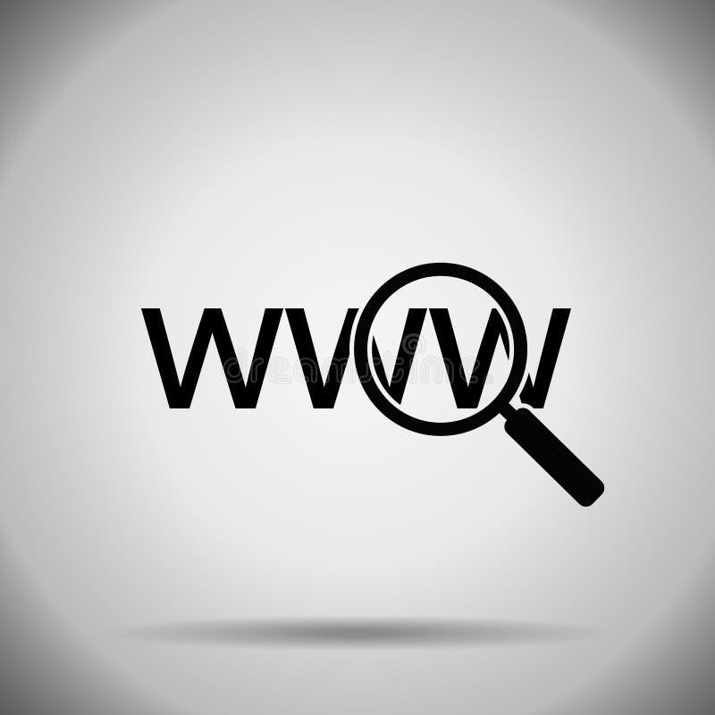 Zoek in Webpictogram stock illustratie