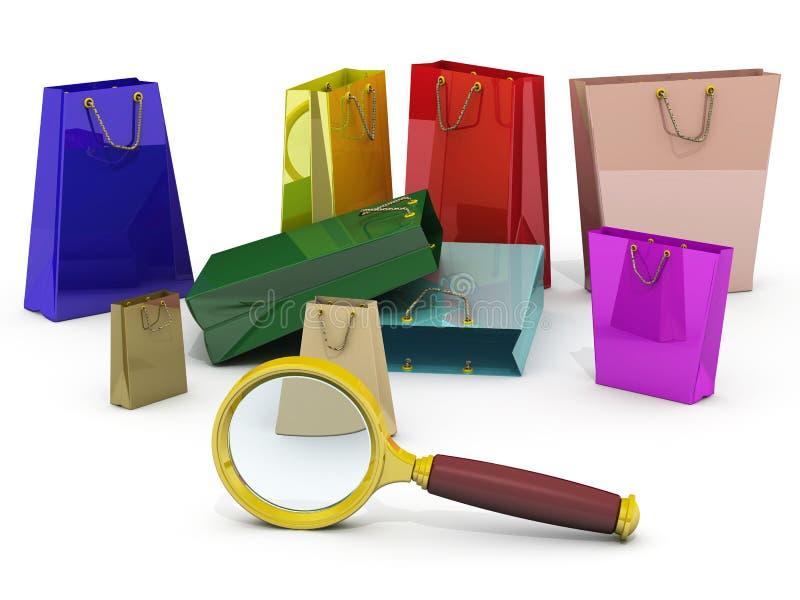 Zoeken voor koopjes stock illustratie