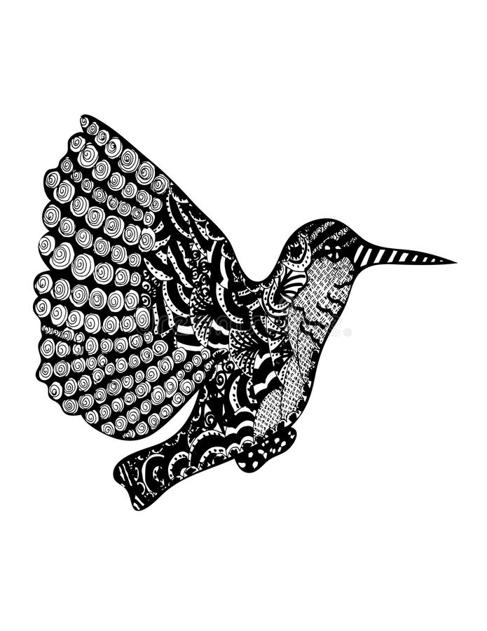 Zoemende vogel royalty-vrije stock foto's
