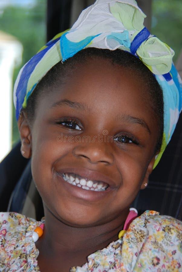 Zoet Afrikaans Meisje royalty-vrije stock afbeelding