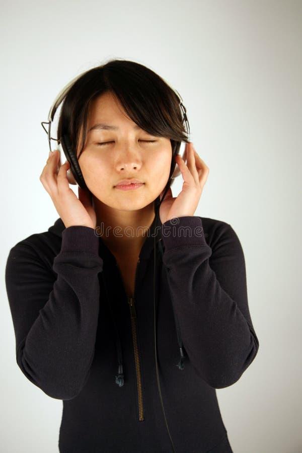 Zoet Aziatisch Chinees meisje stock foto's
