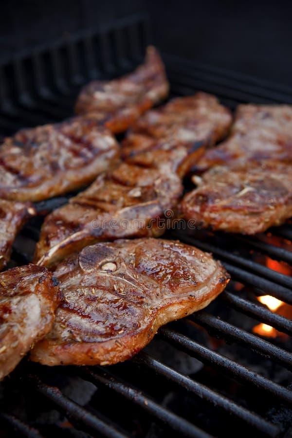 Zoet BBQ vlees stock afbeeldingen